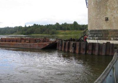 Ремонт опор Кузминского железнодорожного моста