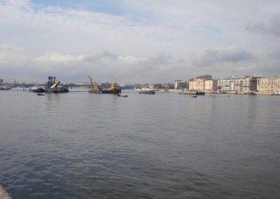 Прокладка водовода на Васильевский остров