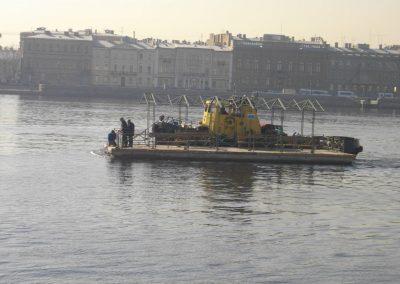 Расстановка дебаркадеров для нужд речного транспорта Санкт-Петербурга